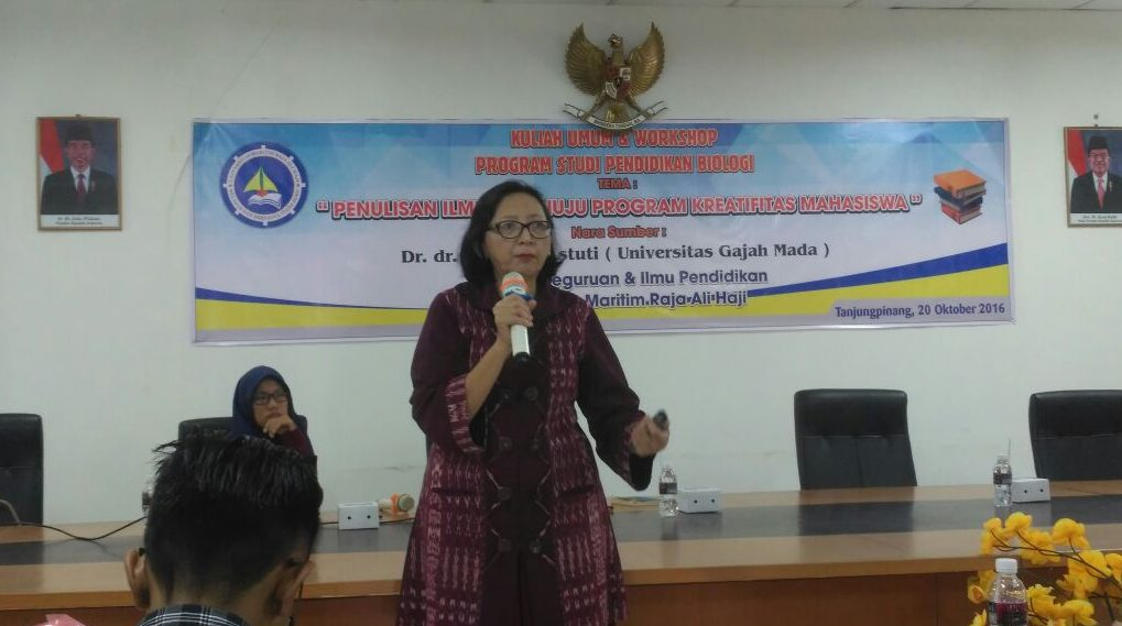 Reviewer Nasional PKM DIKTI Berikan Kuliah Umum dan Workshop Program Kreativitas Mahasiwa di Program Studi Pendidikan Biologi
